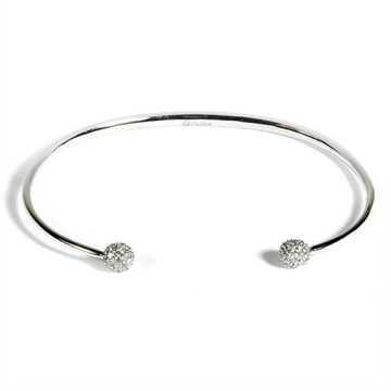 14K White Gold Ladies Diamond Bangle 1ct TW