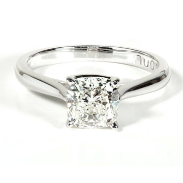 18K White Gold 1 Carat Solitaire Engagement Ring Certified