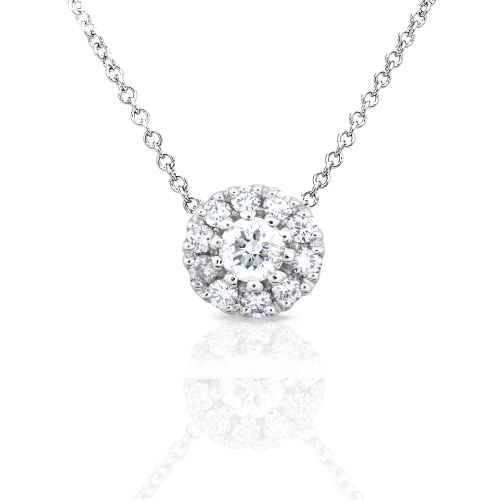"Round Brilliant Diamond Pendant ""Solitaire"" in 14K 1/3ct TW"