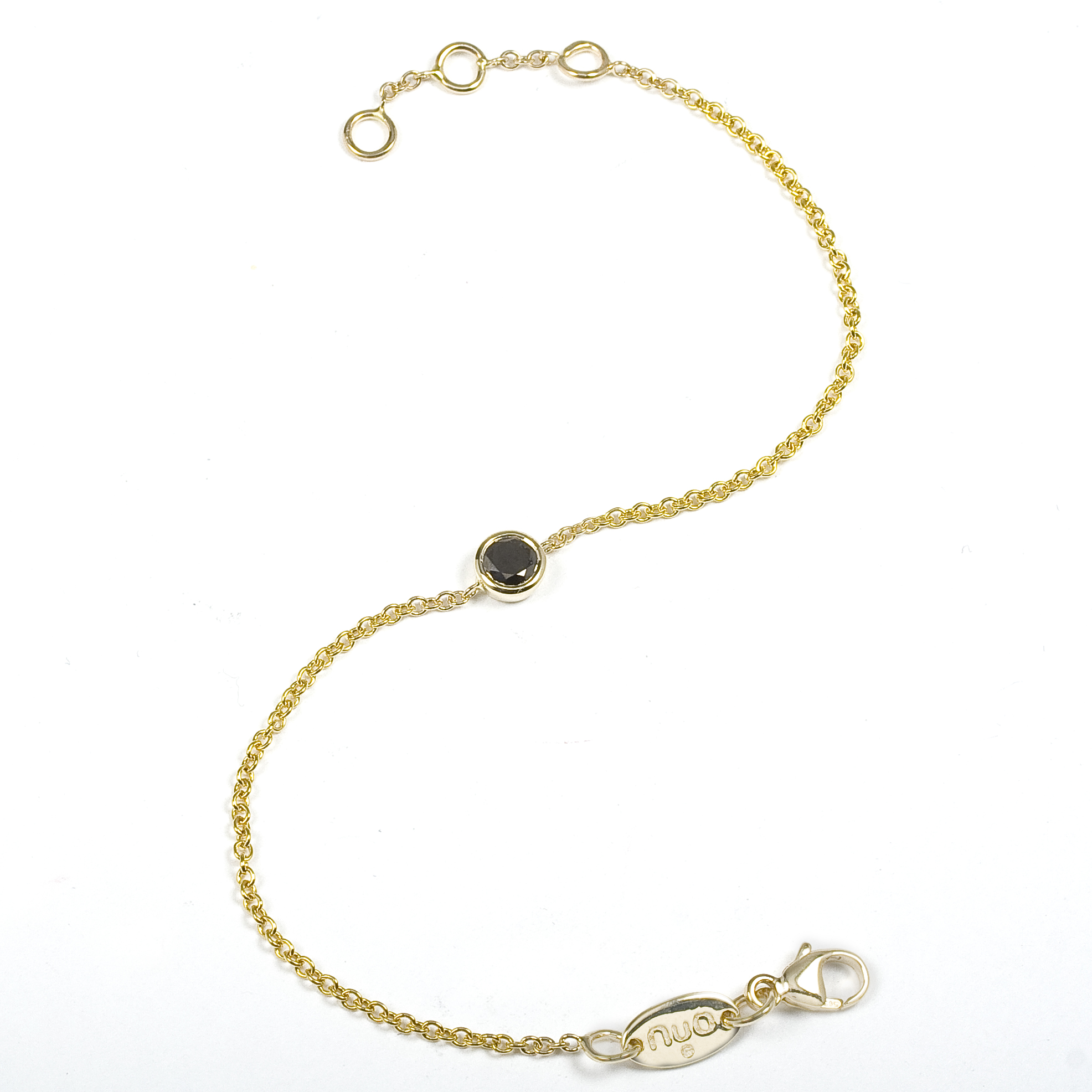"14K Yellow Gold ""NuO Neat"" Bracelet with Black Diamond"