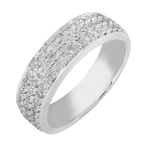Round Diamond Band in 14k White Gold 2/3ct TW