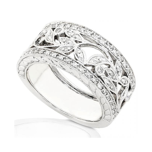 Round Diamond Band in 14kt White Gold 1/4c TW