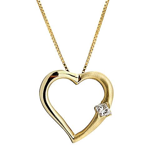 Diamond pendants unique diamond jewelry engagement ring stores diamond heart shaped pendant in 14k yellow gold aloadofball Choice Image