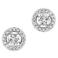 Round Brilliant Cut Diamond Earrings set in 14K 1/2ct TW