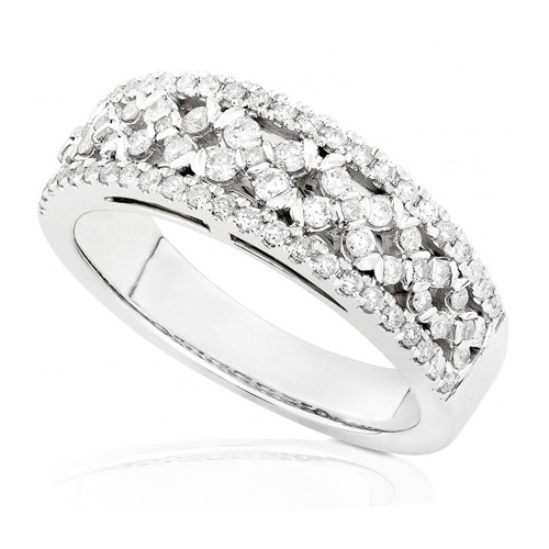 Round Diamond Band in 14kt White Gold 1/2ct TW