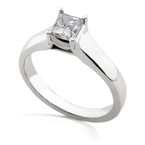 Princess Cut Diamond Solitaire Engagement Ring in 14K 5/8ct TW