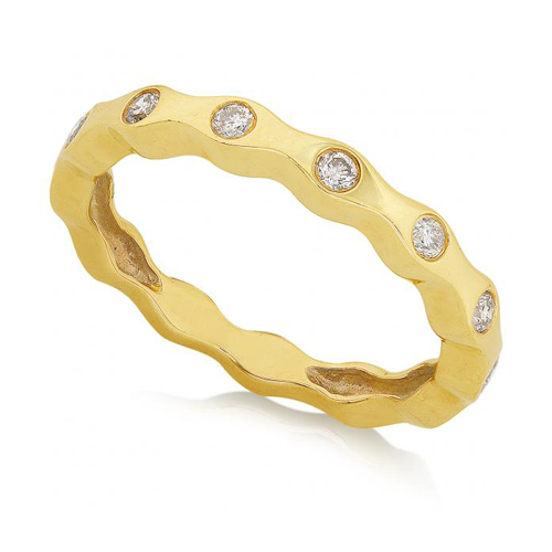 Round Diamond Band in 14k Yellow Gold 1/4ct TW