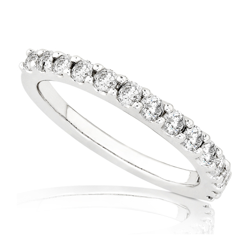 Round Brilliant Diamond Band in 14k White Gold 1/2ct TW