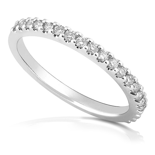 Diamond Anniversary Band in 14k White Gold 1/4ct TW - Click Image to Close