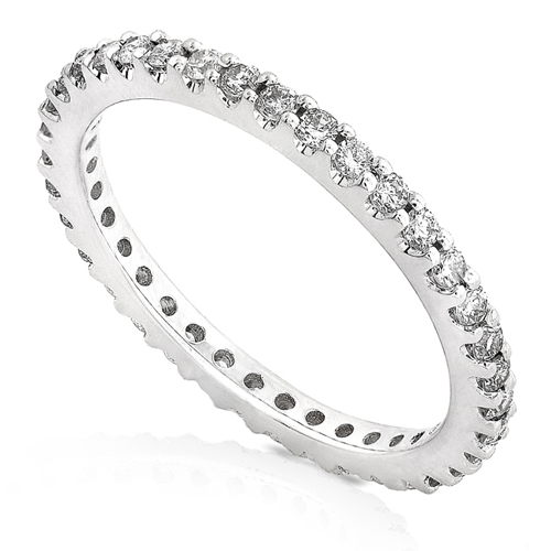Eternity Diamond Prong Set Band in 14k White Gold 1/2ct TW
