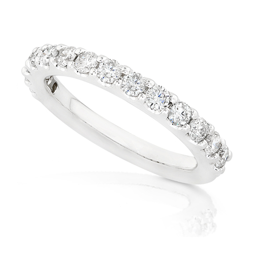 Round Brilliant Diamond Band in 14K White Gold 3/4ct TW
