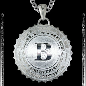 Sterling Silver BlackWallStreet Pendant