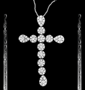 Women's Diamond Cross Pendant