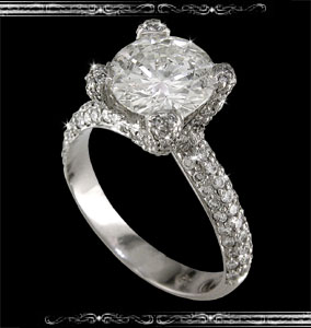 Ladies' Engagement Ring in Platinium