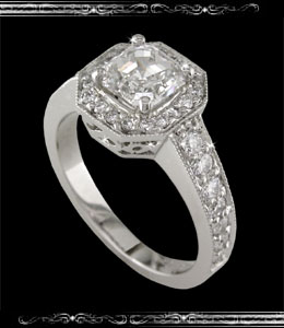 Ladies' Engagement Ring in 14K White Gold