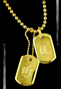 Baby Dogtag in 18K Yellow Gold
