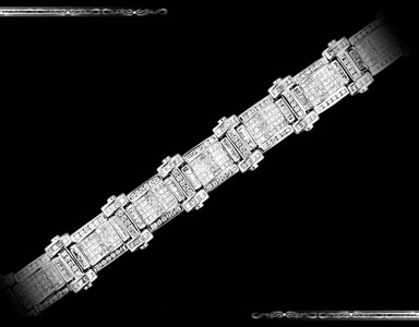 Men's Bracelet set in 14K White Gold