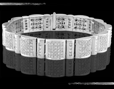 Men's Bracelet in 14K White Gold