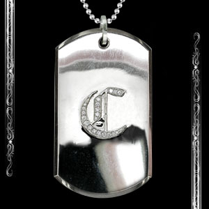 Old english 1 initial DogTag