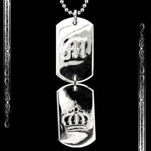 Double Dogtag in 14K White Gold