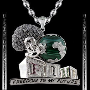 Freedom Is My Future Pendant in Platinum